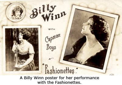 A Billy Winn poster for her performance with the Fashionettes