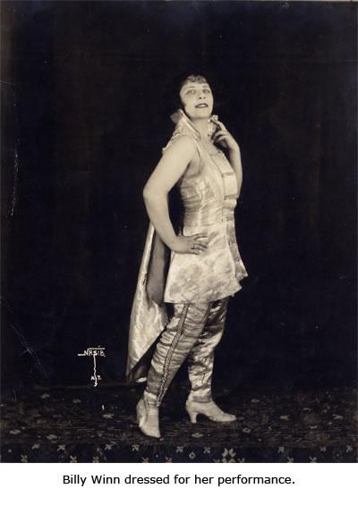 Billy Winn Dressed for Her Performance