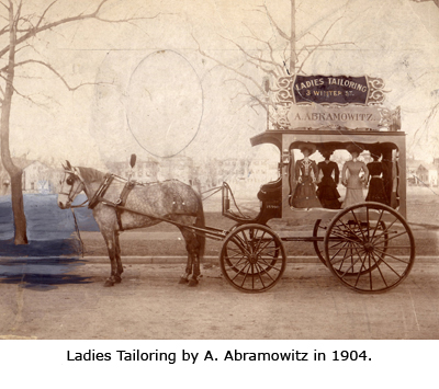 Ladies Tailoring by A. Abramowitz in 1904