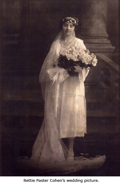 Nettie Paster Cohen's Wedding Picture