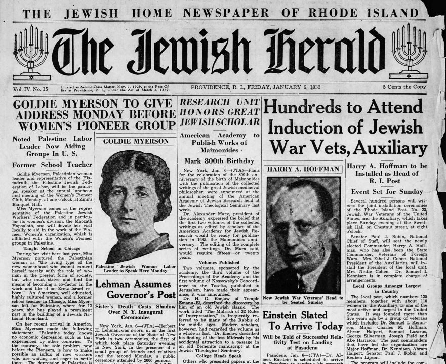 1-1933 front page