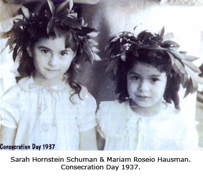 Sarah Hornstein Schuman and Mariam Roseio Hausman